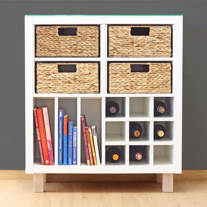 ikea kallax regal als trendiges sideboard einfach genial. Black Bedroom Furniture Sets. Home Design Ideas