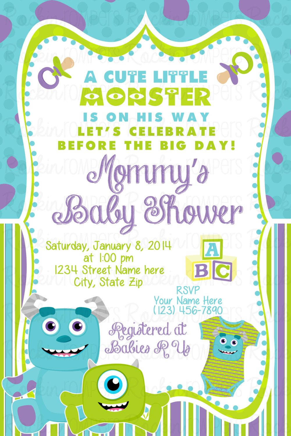 Monster Inc Baby Shower Decorations 17 Best Images About Parkers Baby Shower Our Monster On