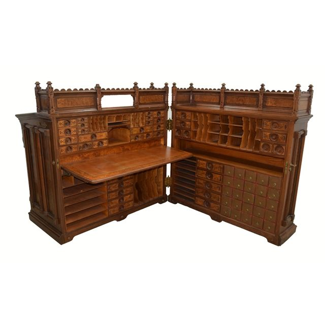 1878 Moore S Patent Cabinet Desk The Desk Known As The Insurance