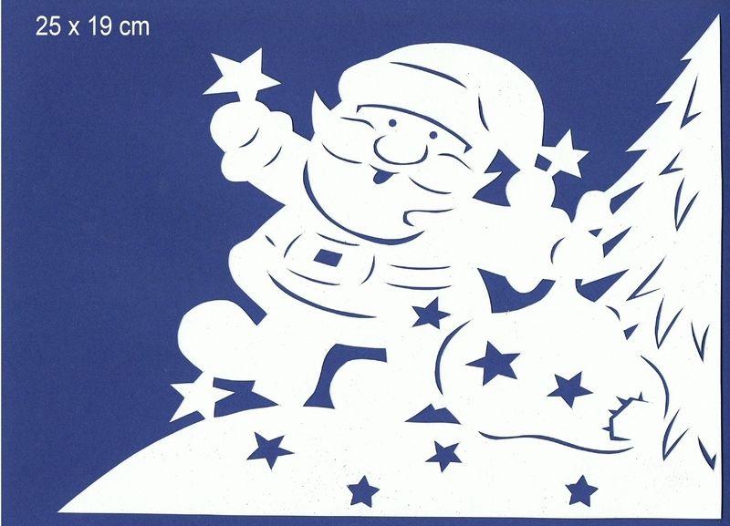 fensterbild filigran weihnachtsmann mit tanne weihnachten pinterest weihnachtsmann. Black Bedroom Furniture Sets. Home Design Ideas
