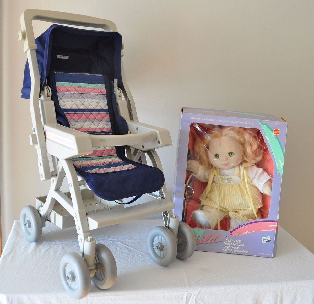 My Child Doll in Box With Aprica Stroller My child doll