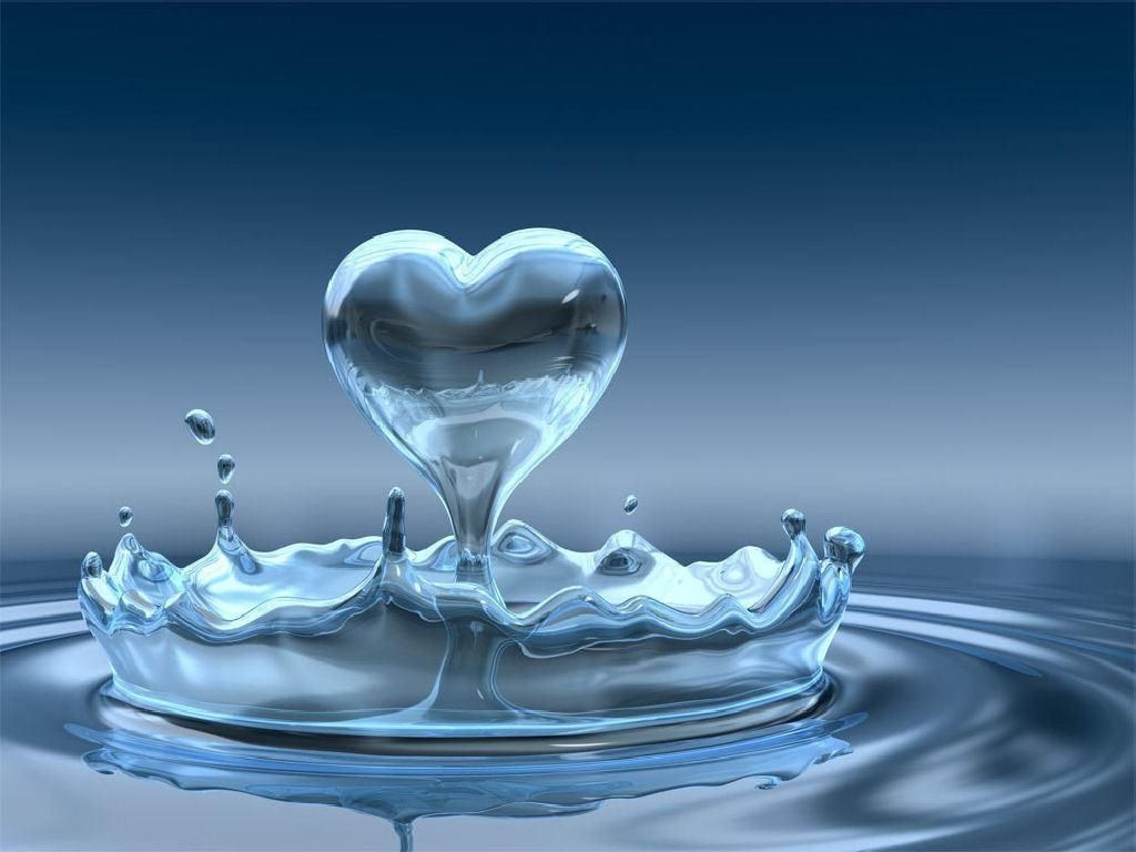 Drops Of Love Heart Picture And Wallpaper
