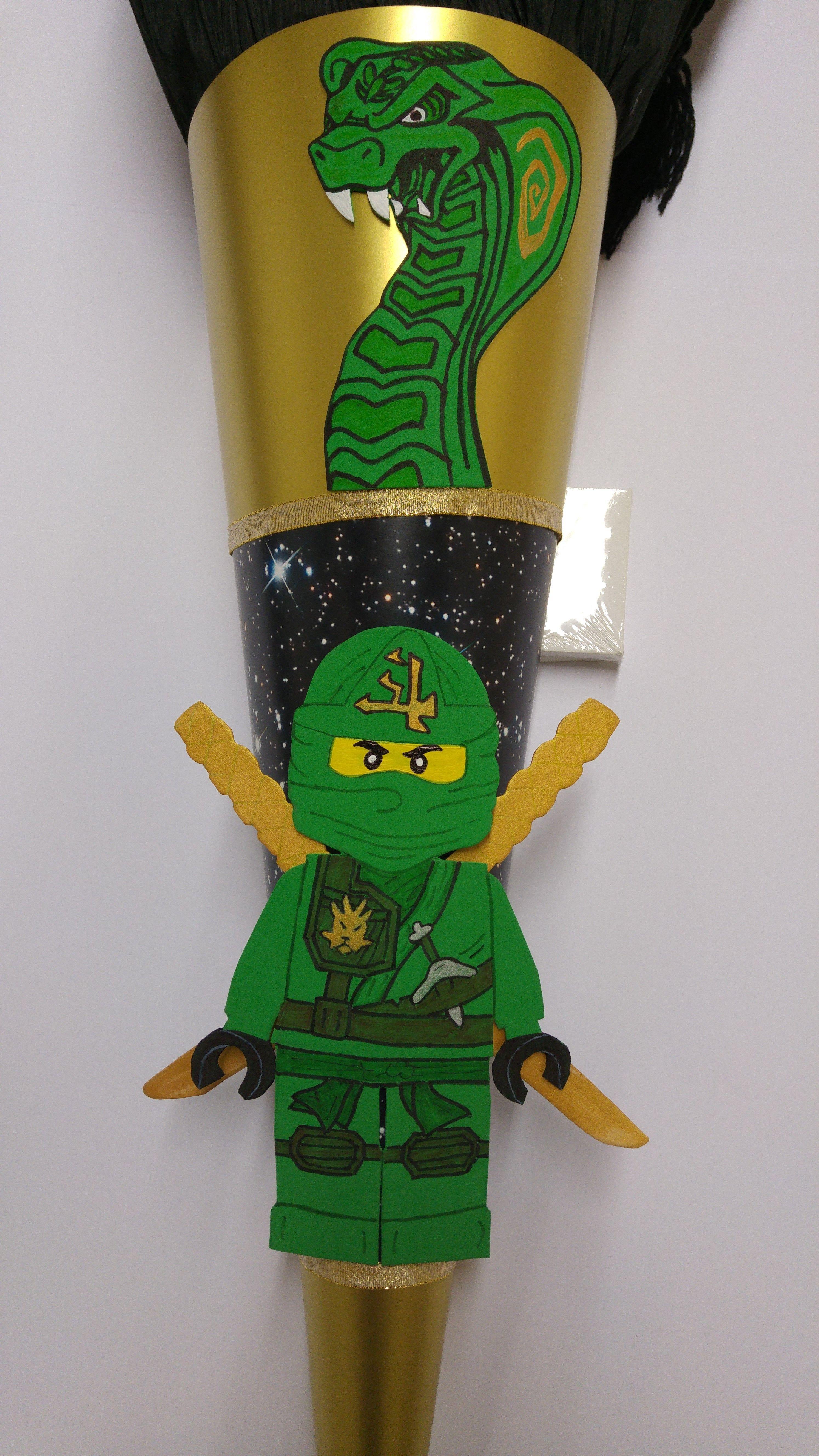 Lego Ninjago Ninja Schultute Green Grun In 2020 Lego Ninjago Ninja Lego Ninjago Ninjago
