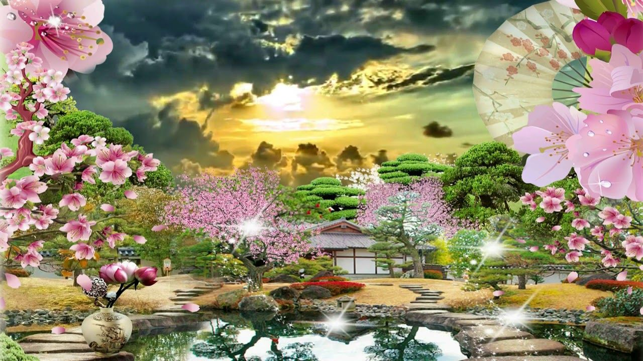 Beautiful 3d Animation With Japan Garden 3d Background Video Effects 563 Japan Garden 3d Background Video Effects