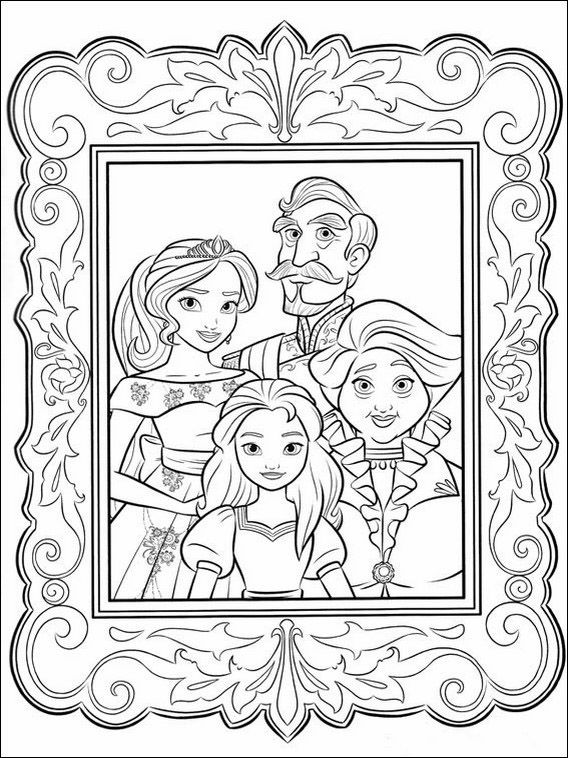 Dibujos para pintar para niños Elena de Avalor 18 | Dibujos en ...