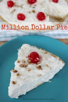 This easy Million Dollar Pie recipe got its name because it was the winner of a Pillsbury Bake Off Pie Contest. You don't have to be a contest winner to impress your friends and family with this easy no bake pie, however. In fact, your family will be begging you to enter this pie in …