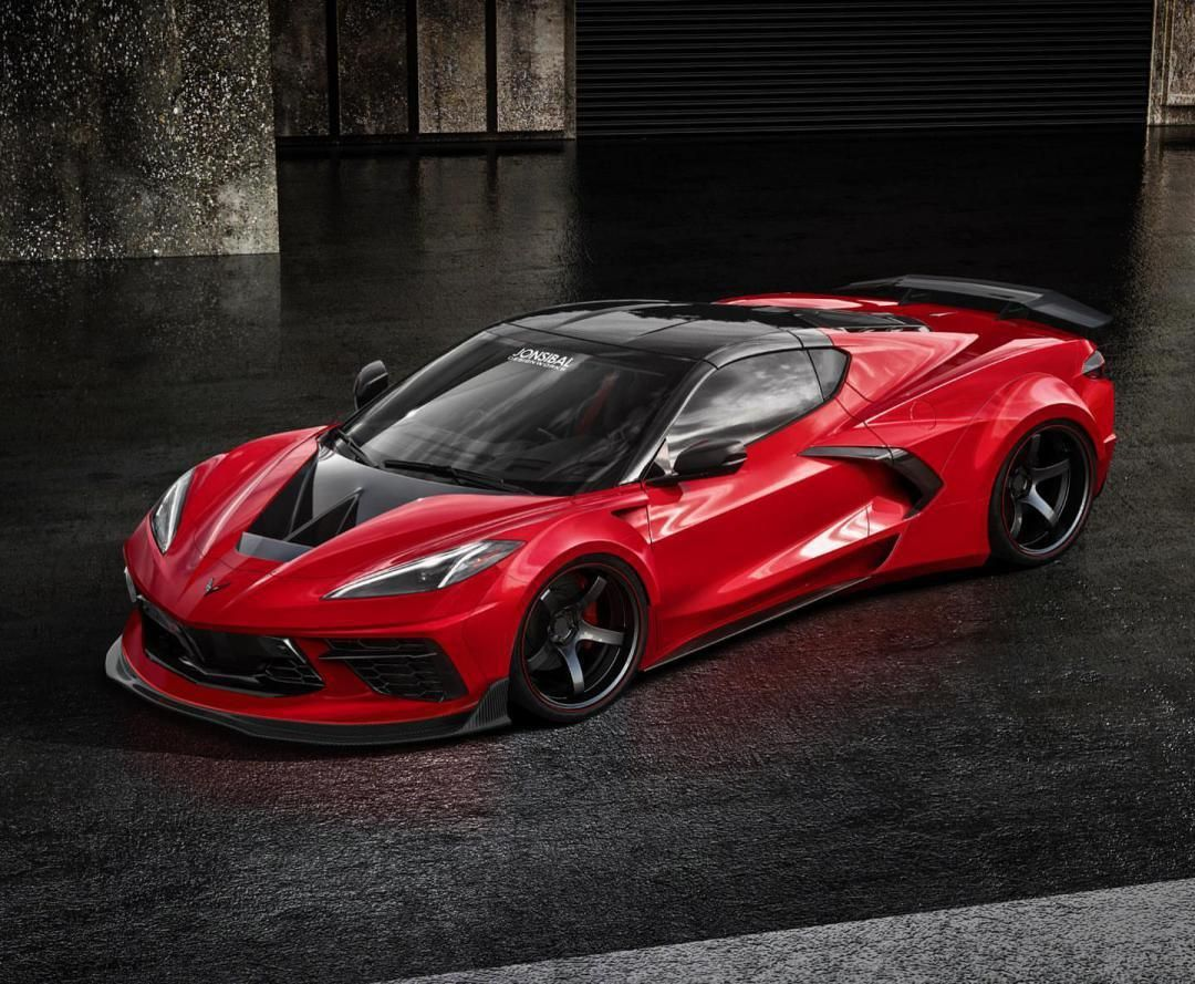 An amazing render of the allnew corvette done by