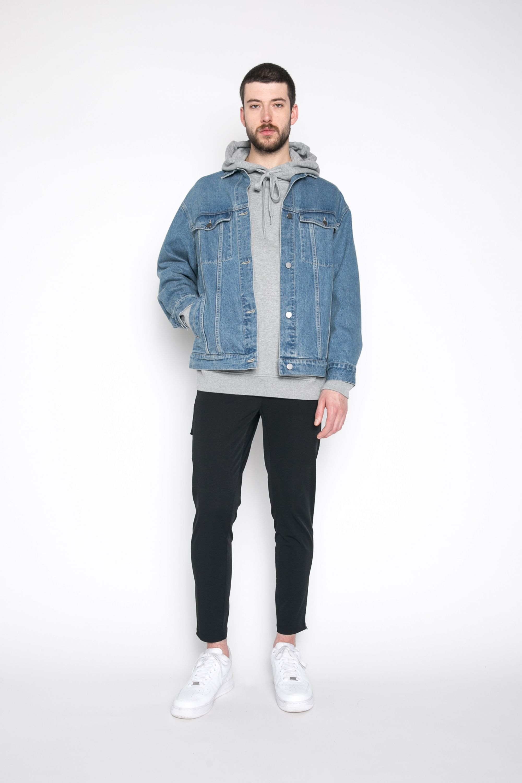 New Mens Oak Fort Man Spring 2017 Denim Jacket 1181 In 2020 Streetwear Men Outfits Men Fashion Casual Outfits Mens Fashion Streetwear [ 3000 x 2000 Pixel ]