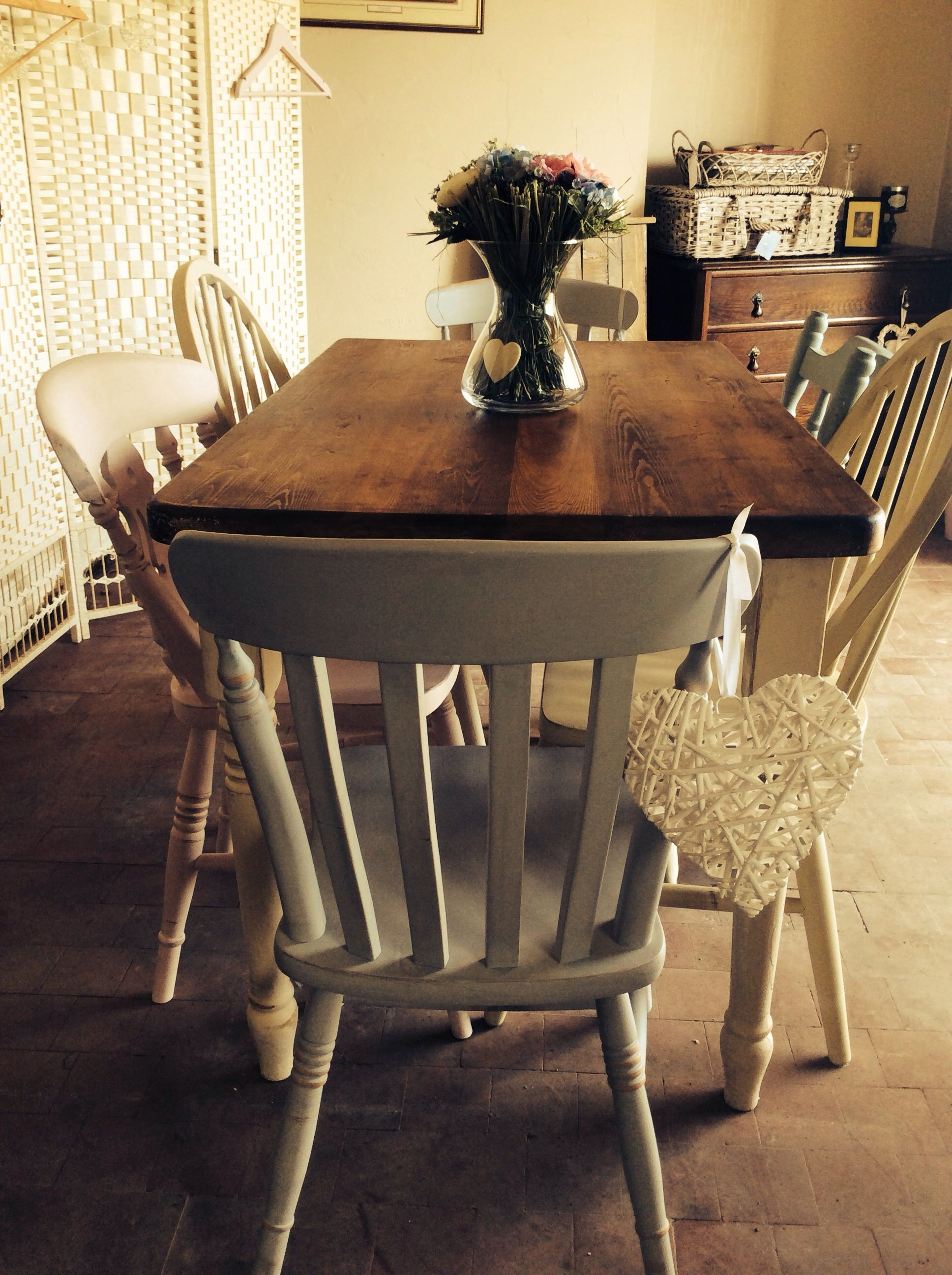 solid scrubbed pine top vintage country farmhouse
