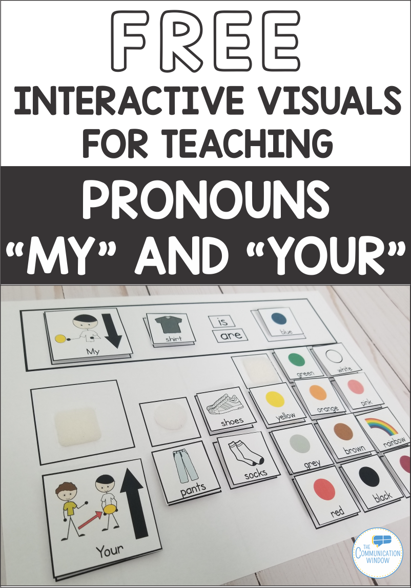 Free Interactive Visual for Teaching Pronouns My and Your