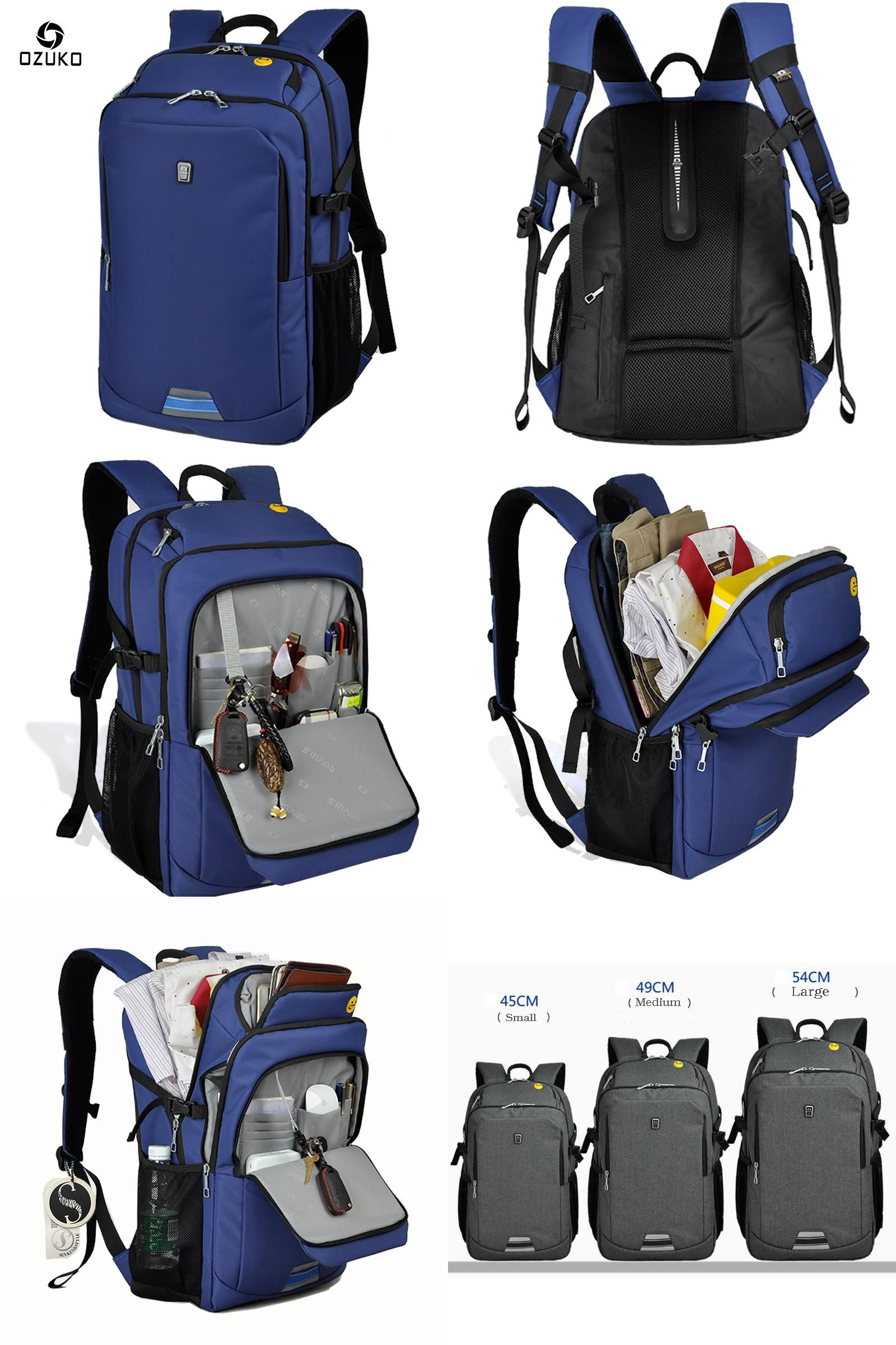 15795890c8a79  Visit to Buy  2017 OZUKO Laptop Bag Men s Business Backpacks Large  Capacity Mochila Fashion College Casual Travel School Bag Waterproof Fabric    ...
