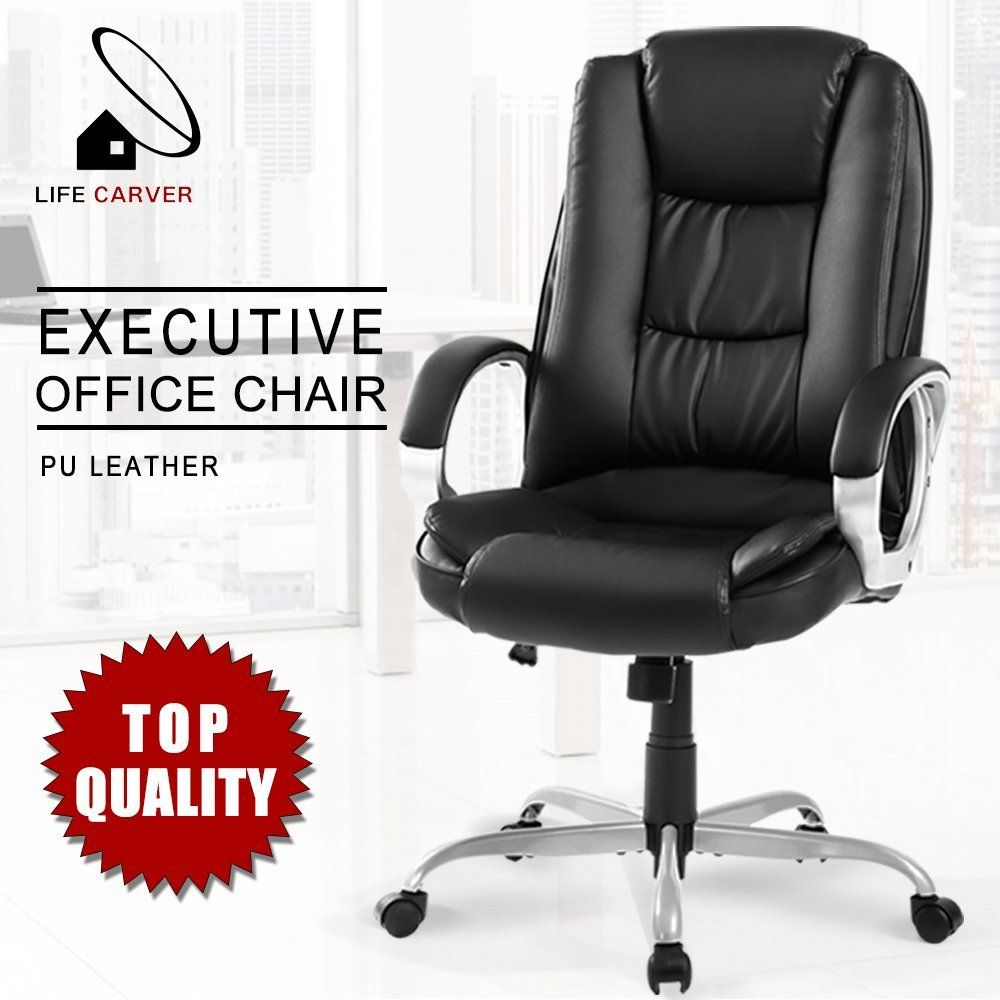 Life carver executive lockable rocking padded headrest ergonomic office chair amazon co uk