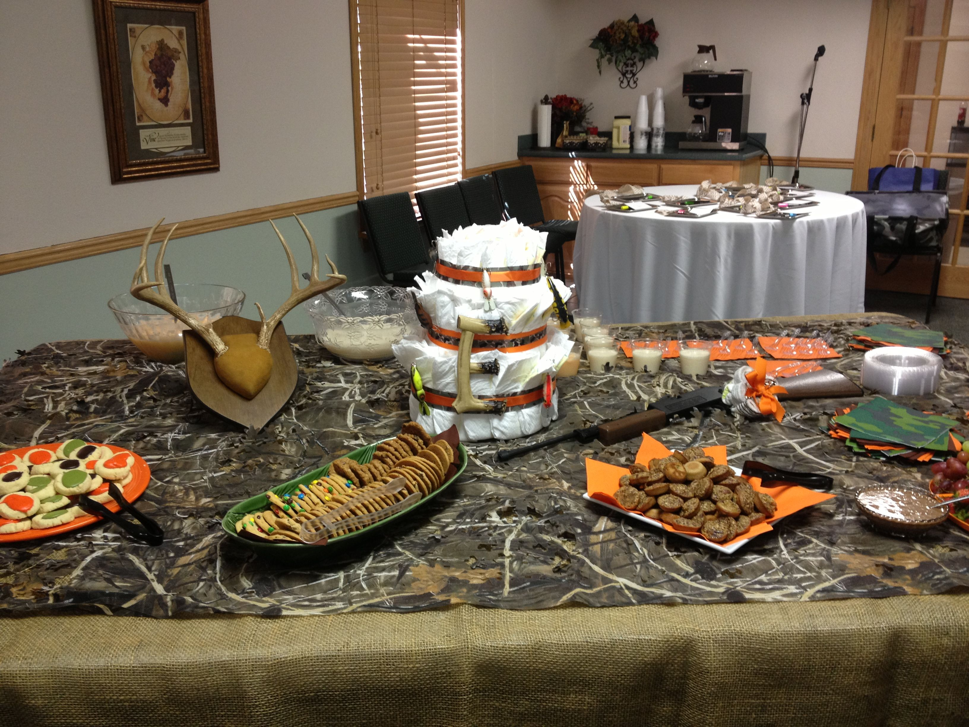 Hunting/Camo theme baby shower
