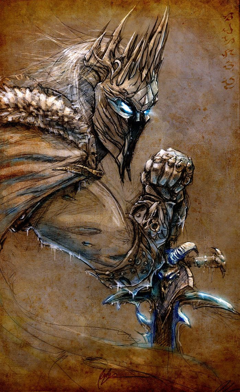Arthas arthas menethil pinterest lich king warcraft for Lich king tattoo