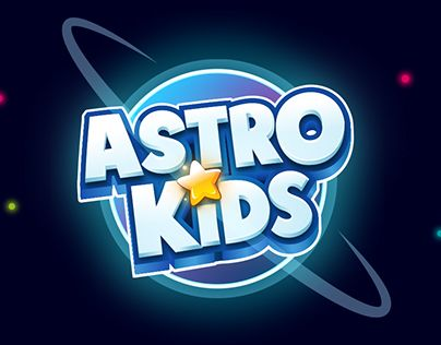 """Check out new work on my @Behance portfolio: """"Astro Kids Event"""" mobile game logo"""