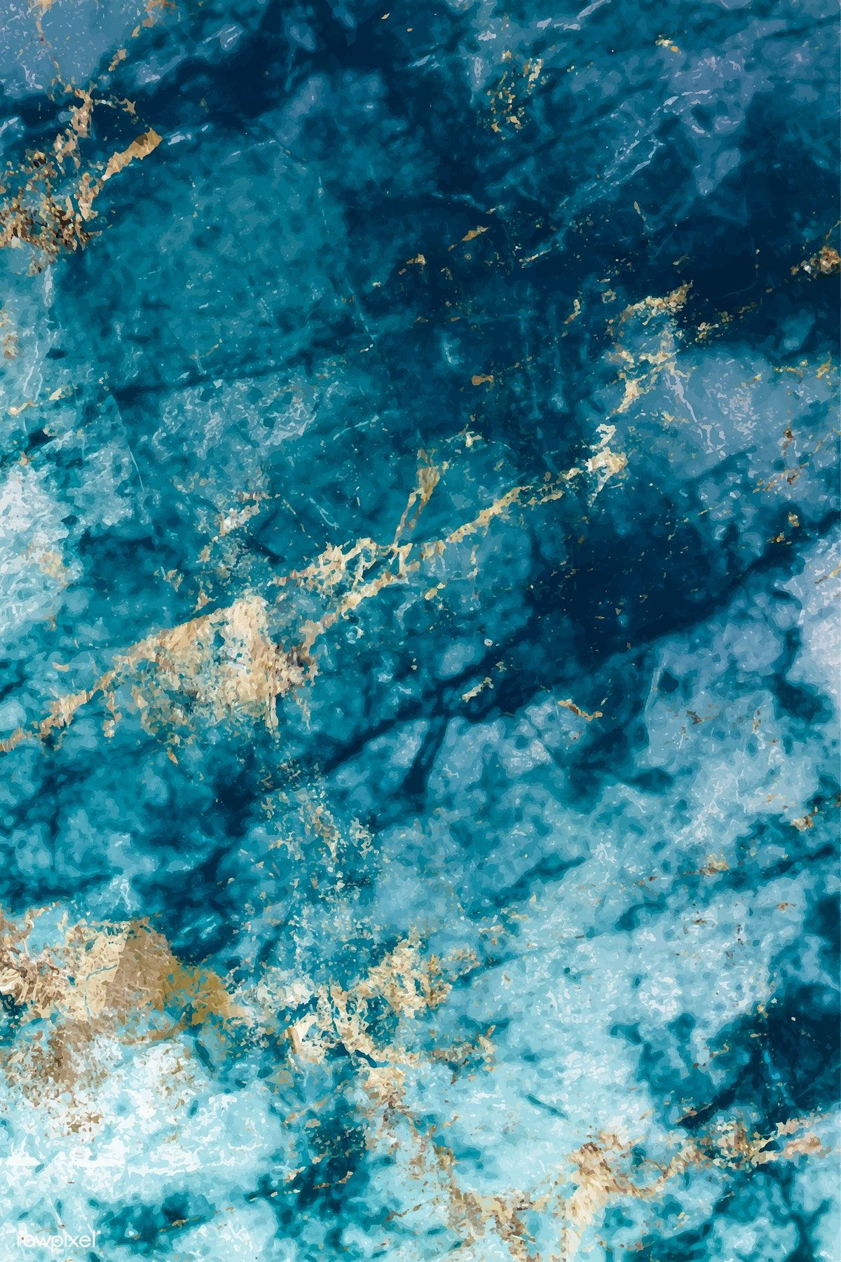 Download Premium Vector Of Blue And Gold Marble Textured Background Vector Marble Texture Textured Background Blue Marble Wallpaper