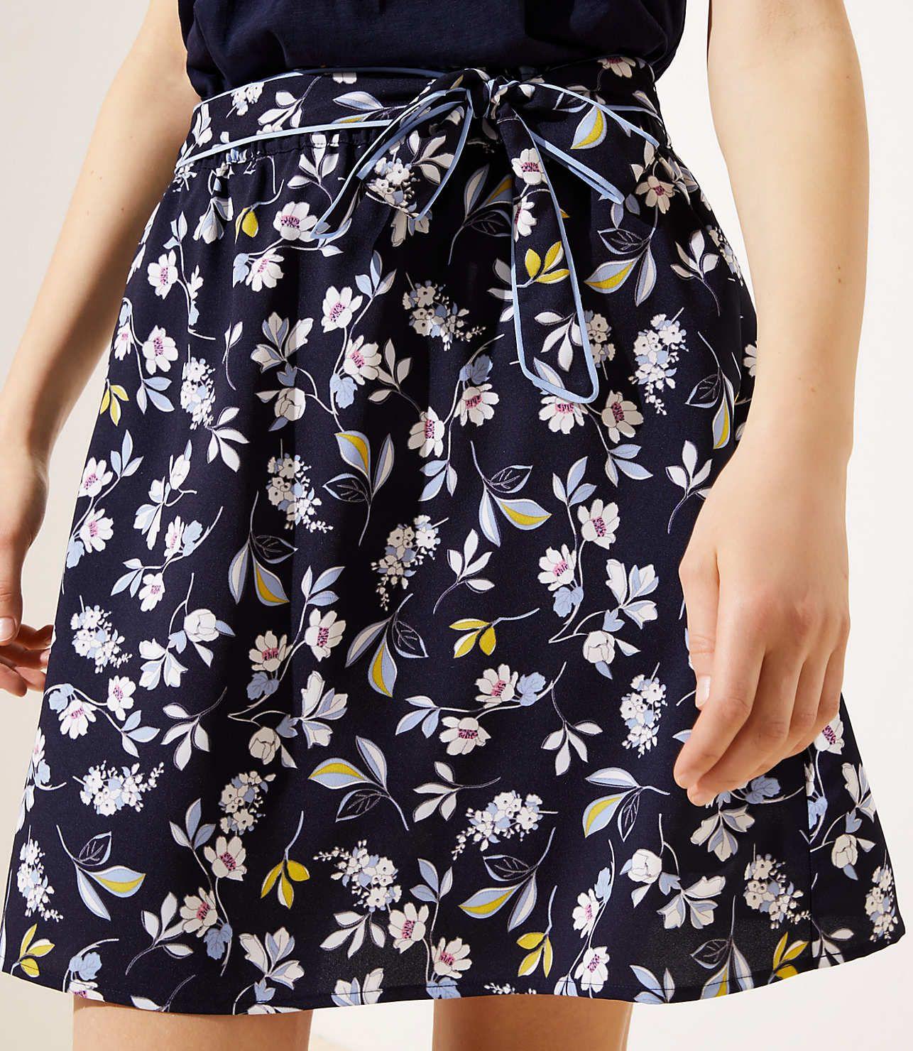 6bf70b7635 LOFT Bouquet Tie Waist Skirt in 2019 | Clothes | Skirts, Waist skirt ...