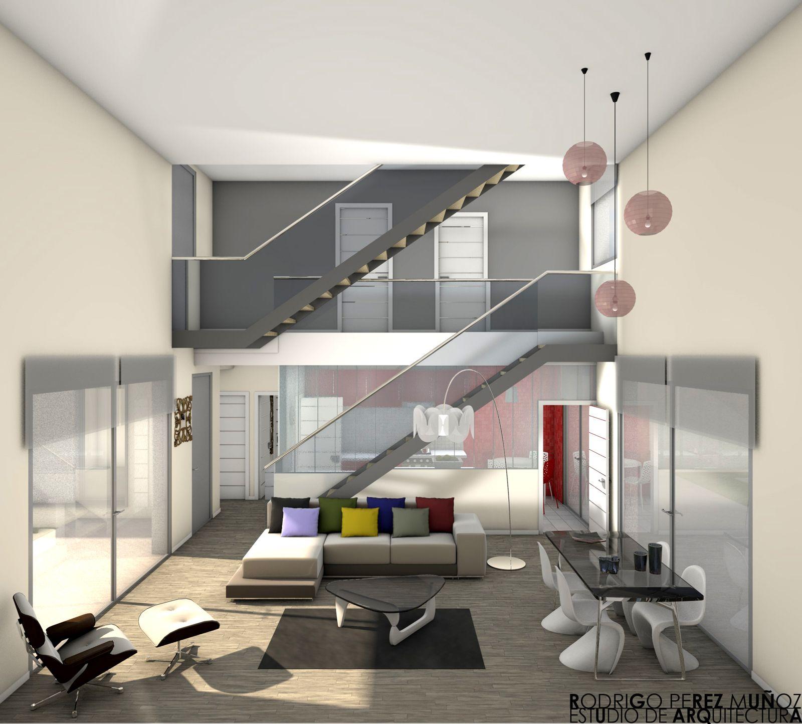 Ideas de #Decoracion de #Comedor, #Salon, #Escalera, estilo #Moderno ...