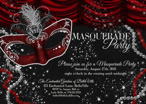 masquerade+party+invitation+mardi+gras+party+party+by+bellaluella, Invitation templates