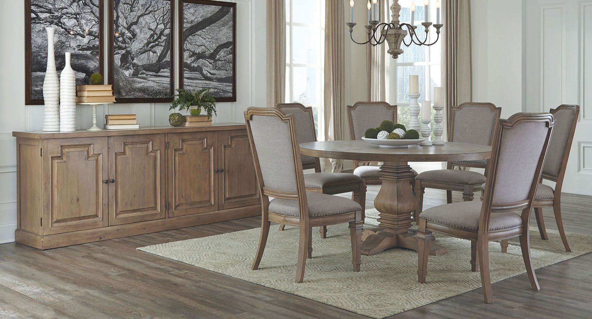 Florence Round Dining Room Set W Vintage Chairs Round Dining