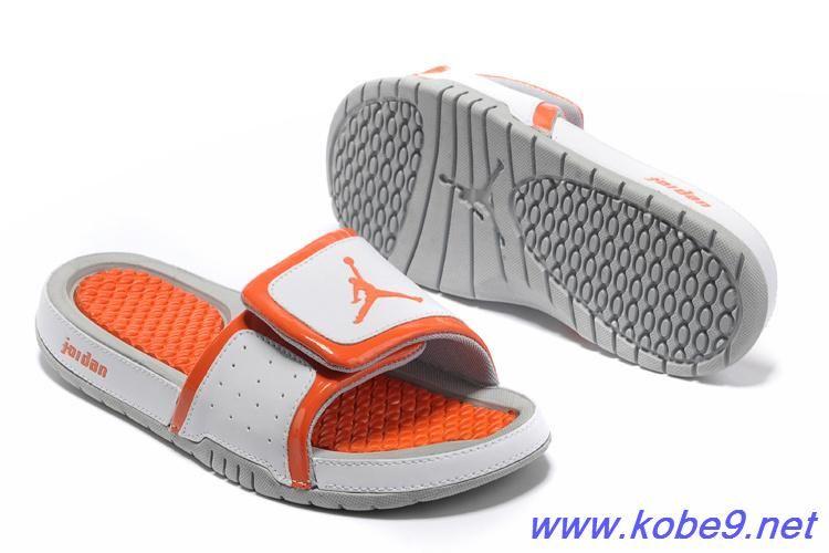 89bad2d2c85e43 2013 Nike Jordan Hydro 2 Slide Sandal White Orange For Sale