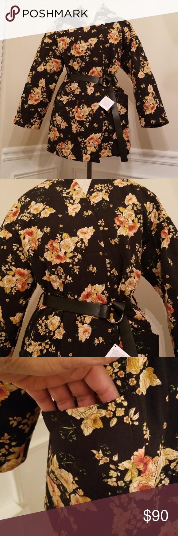 Nwt Zara Basic Outerwear Floral Print Jacket Kimono Fashion Clothes Design [ 1740 x 580 Pixel ]
