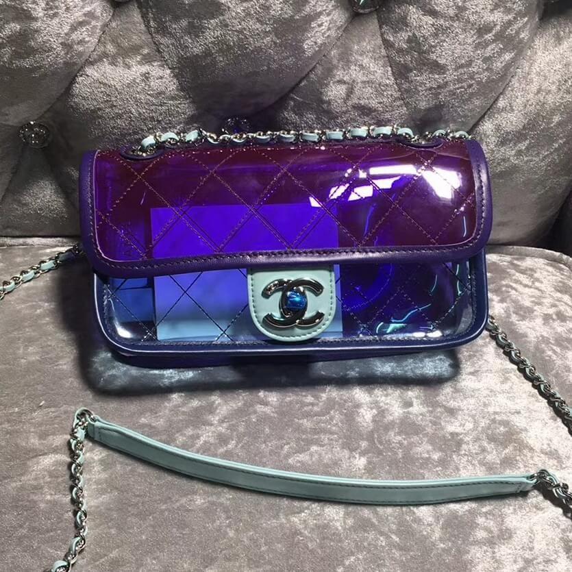 19a19651f71d Chanel PVC Coco Splash Small Flap Bag A57049 Purple/Blue 2018 | Buy ...