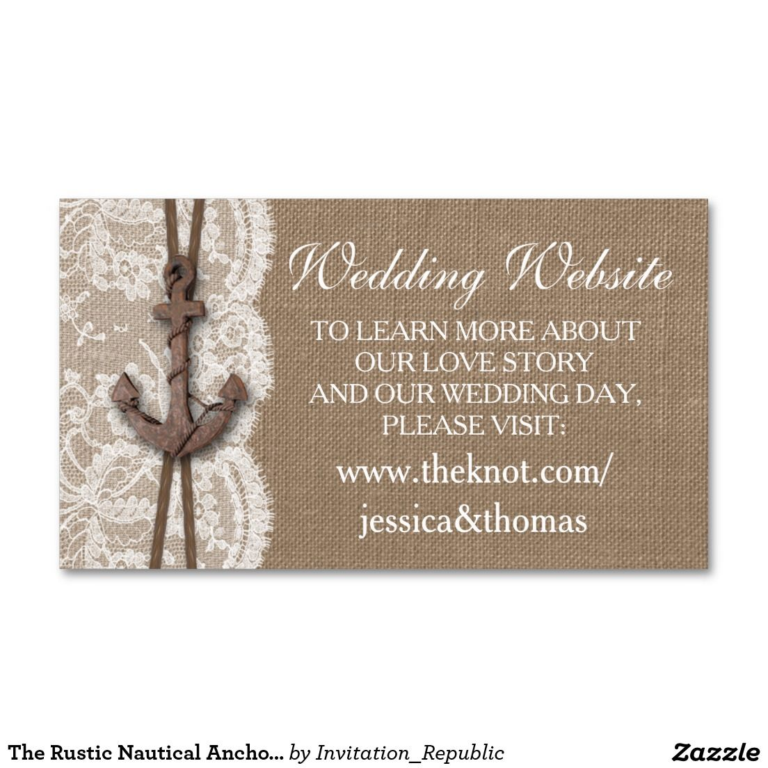 The Rustic Nautical Anchor Wedding Collection Double-Sided ...