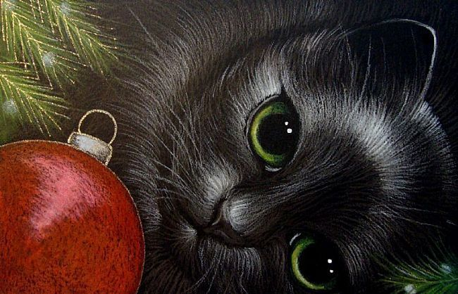 pictures of fantasy cats | FANTASY BLACK CAT - HOLIDAY 2