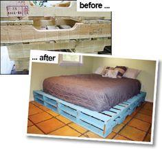 Crafty Genes Pallet Bed Frame Pallet Bed Frame Pallet Bed