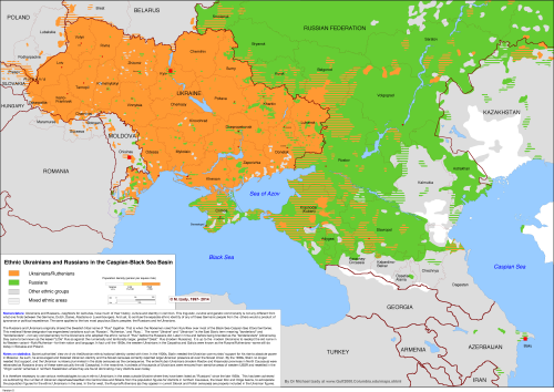 Ethnic Ukrainians and Russians in Caspian-Black Sea basin ... on ukraine historical map, ukraine ethnic division, ukraine map crimea, odessa ukraine map, ukraine population density map, ukraine map interactive, 2014 ukraine map, ukraine demographic map, ukraine world map, ukraine 1914 map, ukraine regions map, ukraine west russia, ukraine flag, ukraine language map, eastern europe ukraine russia map, ukraine protests, ukraine division map, conflict in ukraine map, kharkov ukraine map,