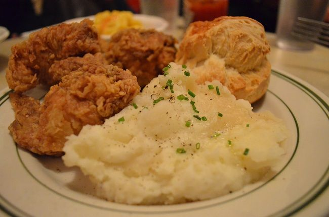 Image result for fried chicken and mashed potatoes