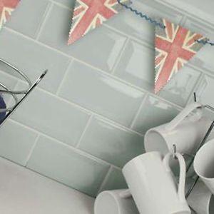 10 x 20 Gloss Duck Egg Brick Metro Ceramic Wall Tiles 100 x 200 ...