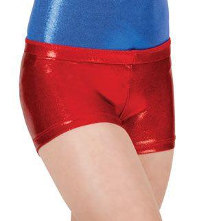 Child Basic Metallic Dance Shorts - Style No G502C