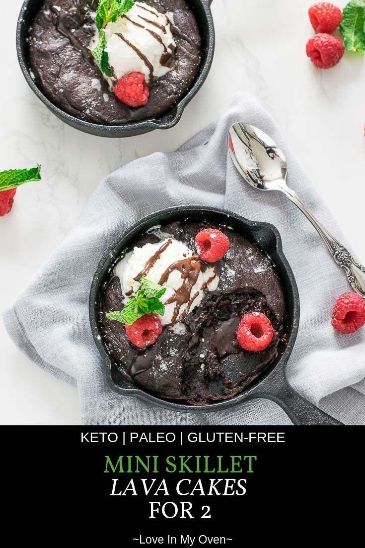 Mini Skillet Lava Cakes For 2 Recipe Dessert Recipes Lava Cakes Cupcake Cakes