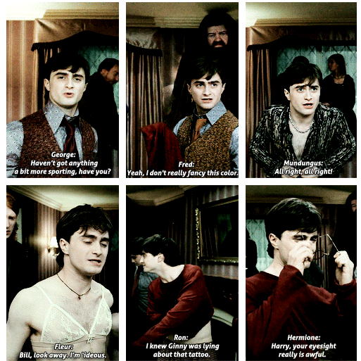 I loved that Dan had to be pretending to be all those characters pretending to be Harry. He's a terrific actor and really funny