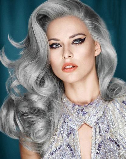 Yeni Akim Grannyhair Beyaz Saç Modasi Kadınlar Beyaz Saç Modasını