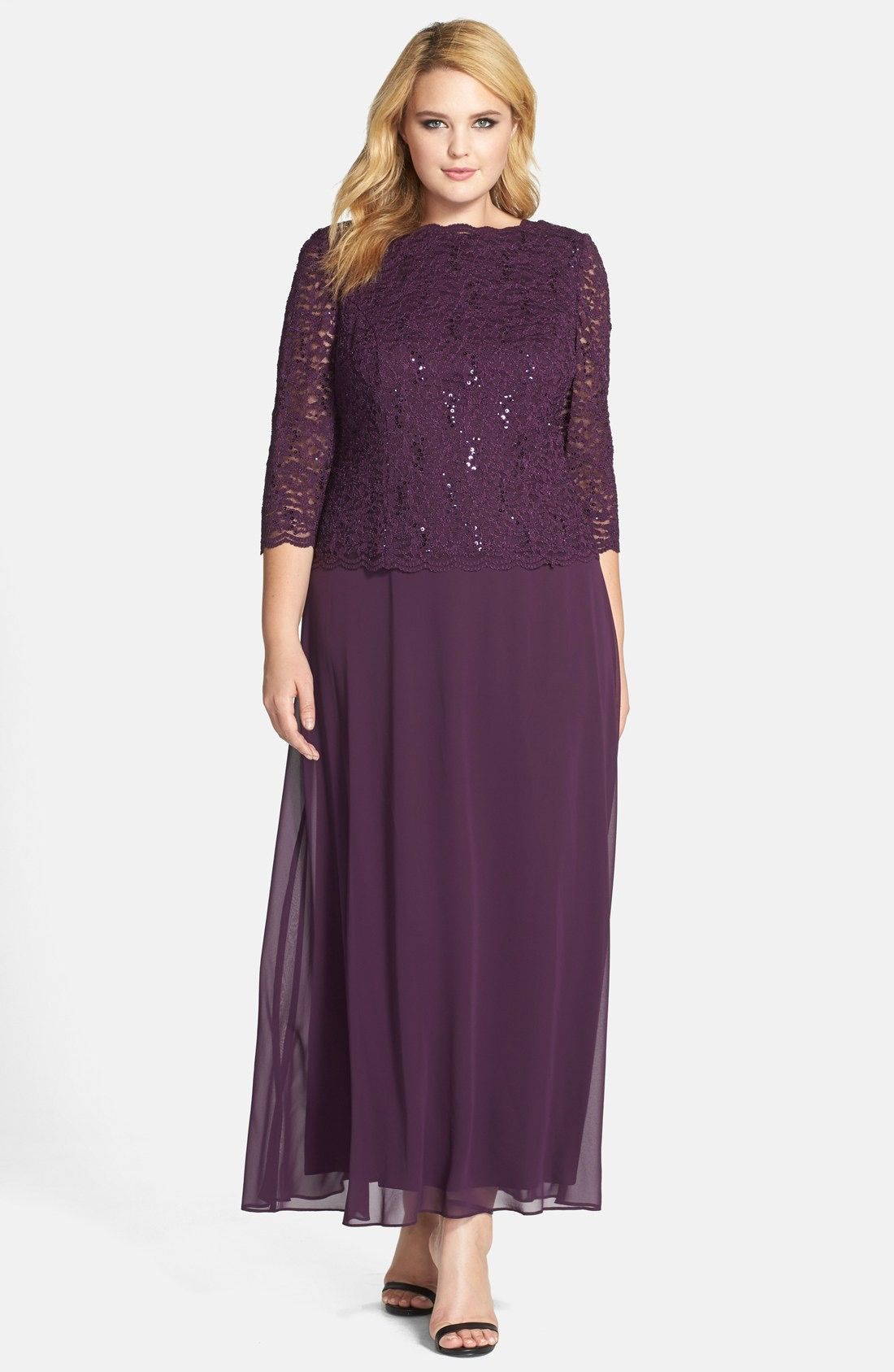 Alex Evenings Embellished Lace | Mother of the groom dresses | Pinterest