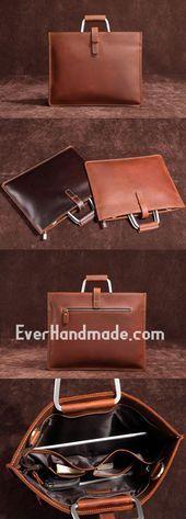 Photo of Handmade Leather Men Vintage Briefcase Handbag Laptop Bag For Men #handbagsforme…
