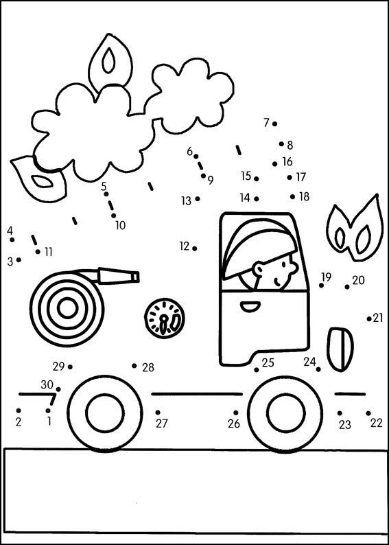 Coloriage Camion Pompier Maternelle.Stci Points A Relier Coloriage Dot To Dot Kindergarten Lessons