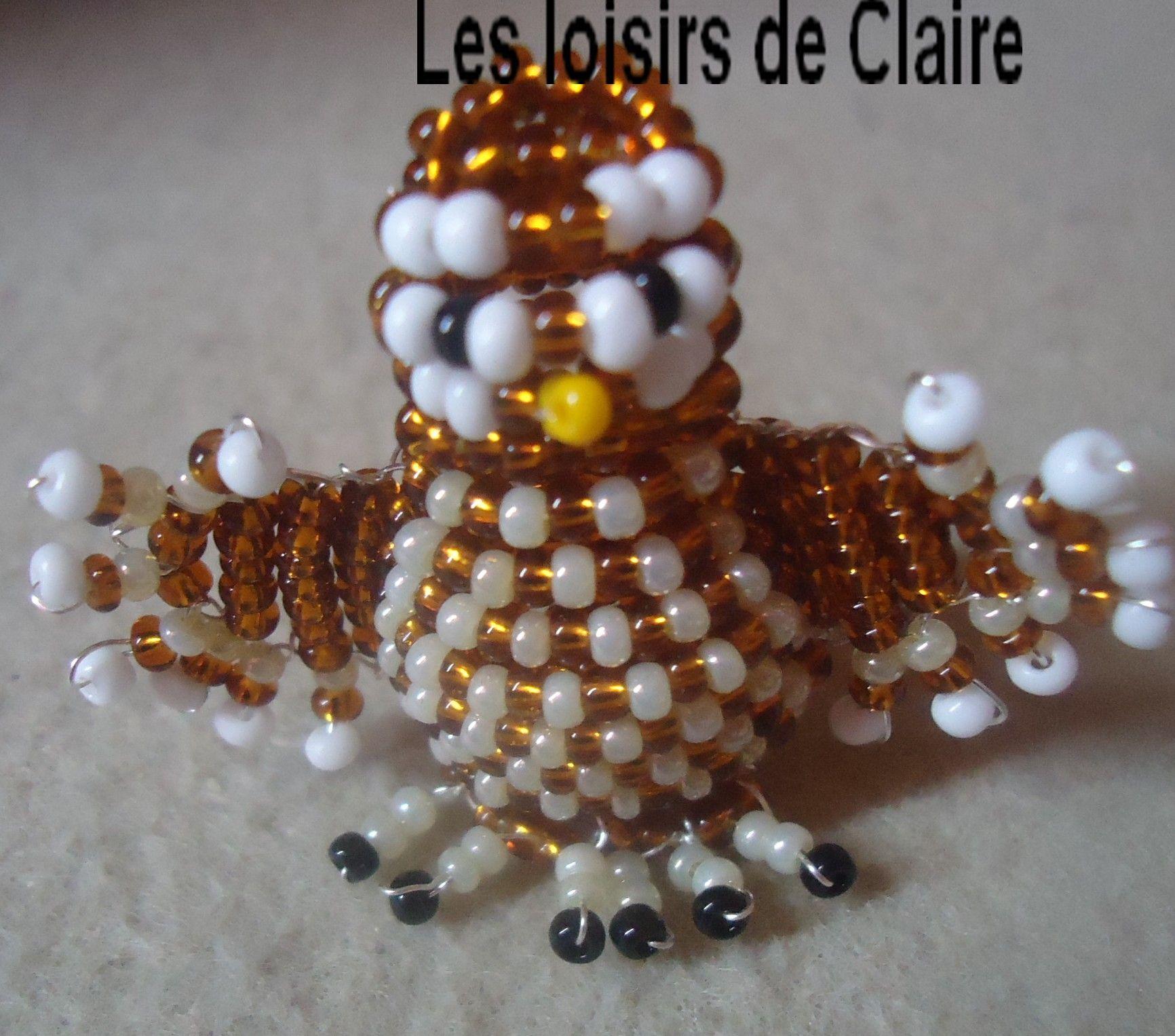 chouette en perles beaded birds pinterest chouette perles et rocaille. Black Bedroom Furniture Sets. Home Design Ideas