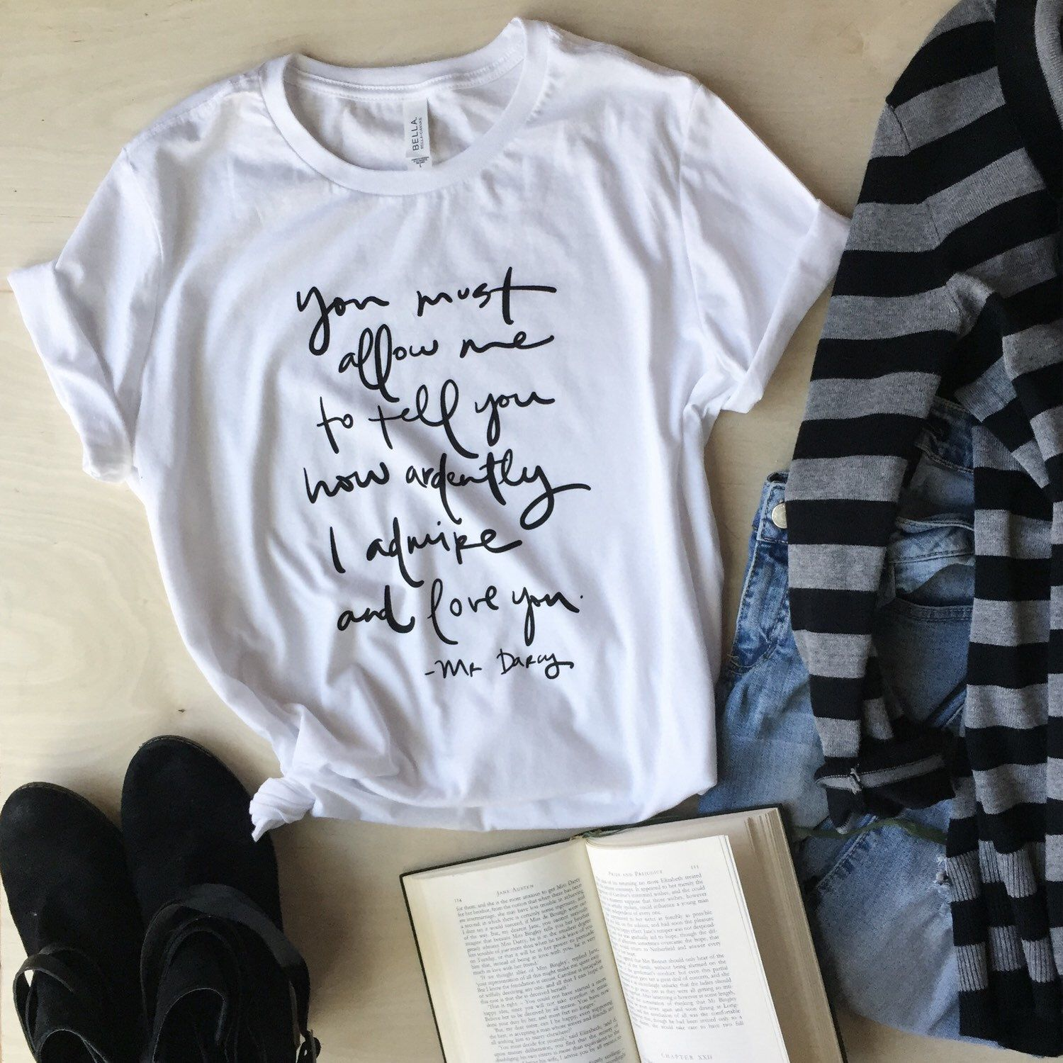 Mr. Darcy Proposal Quote T-shirt, Designed And Screen