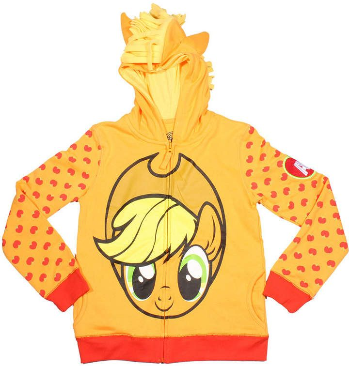 2e0ff63835e3 My Little Pony Girls Applejack Costume Hoodie with Crystalline and ...