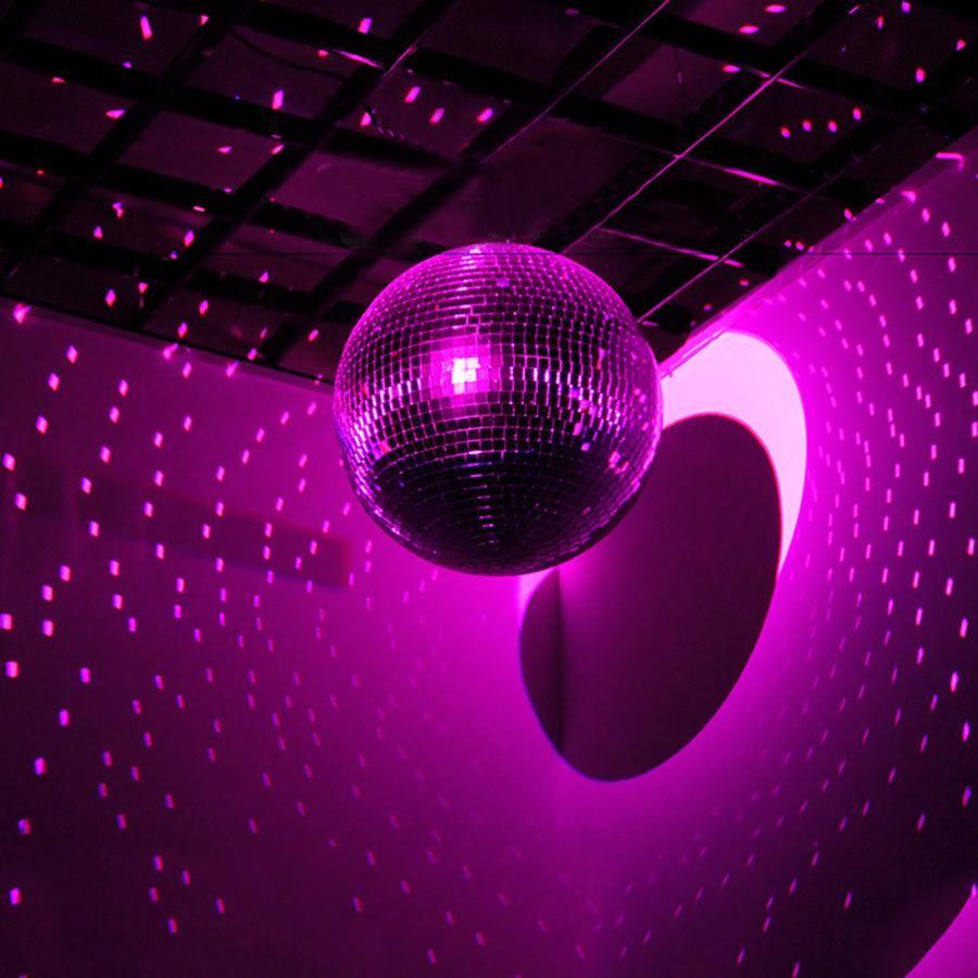 16 Silver Disco Mirror Ball Large Disco Ball With Hanging Swivel Ring Glass Mirror Disco Ball Mirror Ball