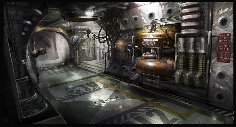 Airlock By Patrick O Keefe Conceptart Dead Space 3