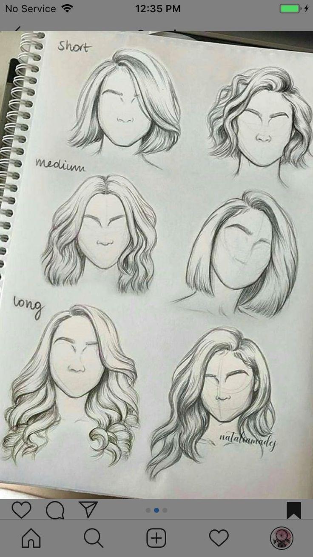 Artsketchescreativehowtodraw Frisuren Zeichnen Skizzen Kunst Haare Zeichnen