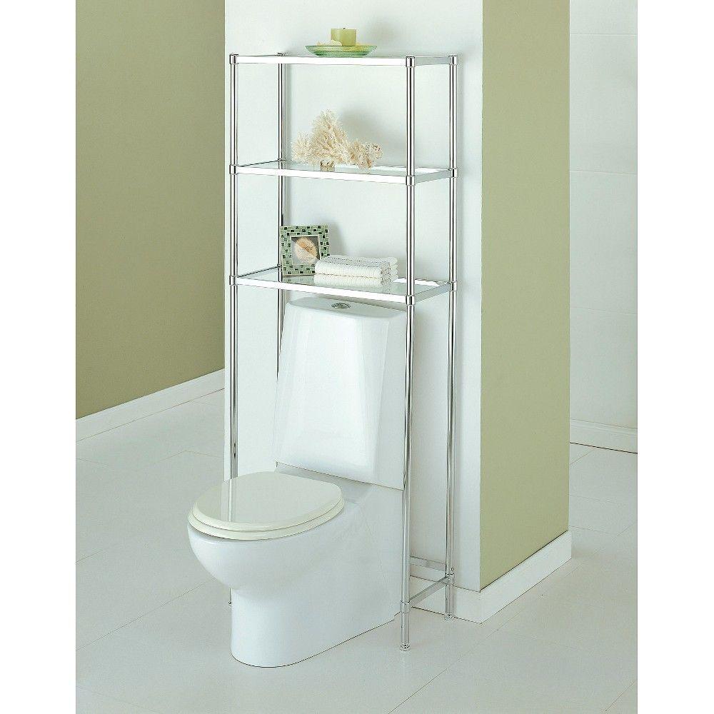 Neu Home Bathroom Spacesaver 3-Tier Shelf Unit - Chrome (Grey ...