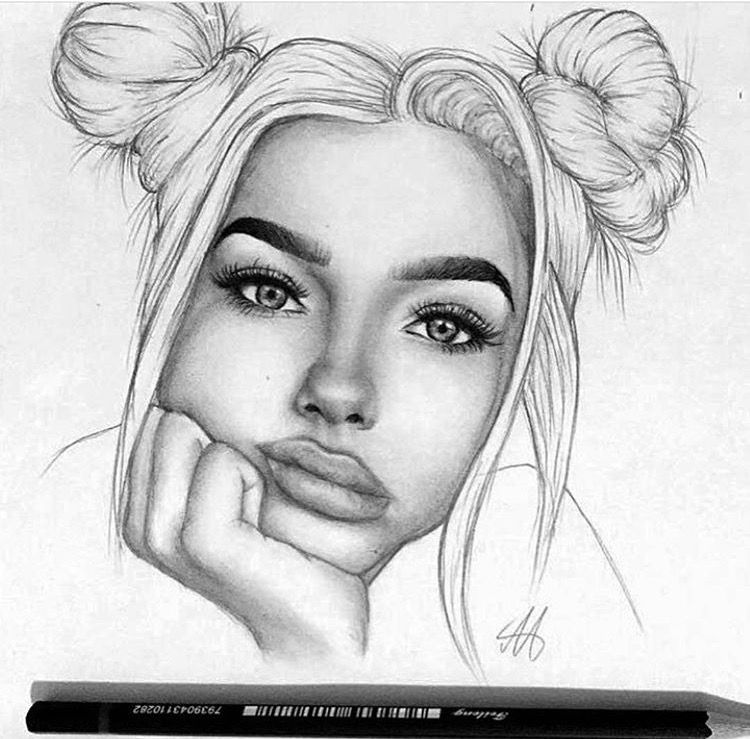 How To Draw Girl Face With Pencil