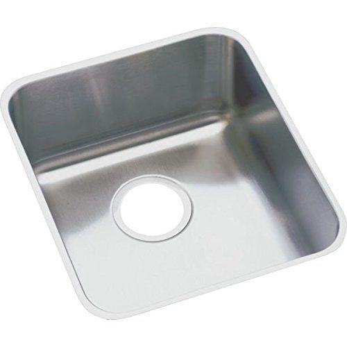 Elkay ELUH1316 Gourmet Lustertone Undermount Sink, Stainless Steel ...