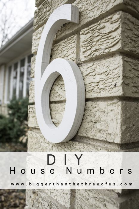 Diy House Numbers Out Of Plywood For Cheap House Numbers Diy Plywood House House Numbers